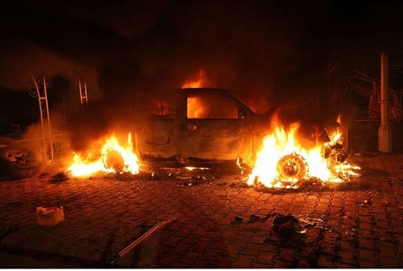 Fire near U.S. consulate in Benghazi