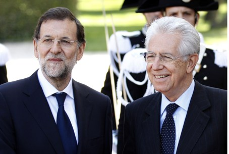 Rajoy with Monti