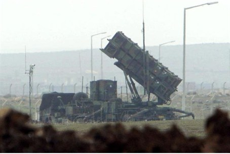 Patriot anti-missile launchers in Turkey in 2