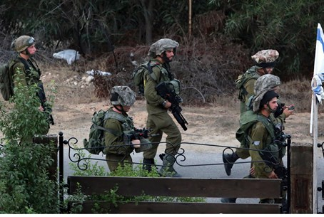 IDF patrol at Netiv Ha'asara (file)