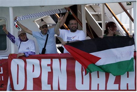 Anti-Israel activists join the Freedom Flotilla II (July 2011)