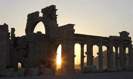 Ancient ruins in Palmyra