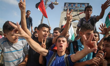 Palestinians in Gaza celebrate terrorist attacks in Israel