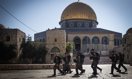Security forces on Temple Mount (file)
