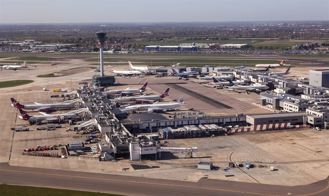 Aerial view of the London Heathrow Airport