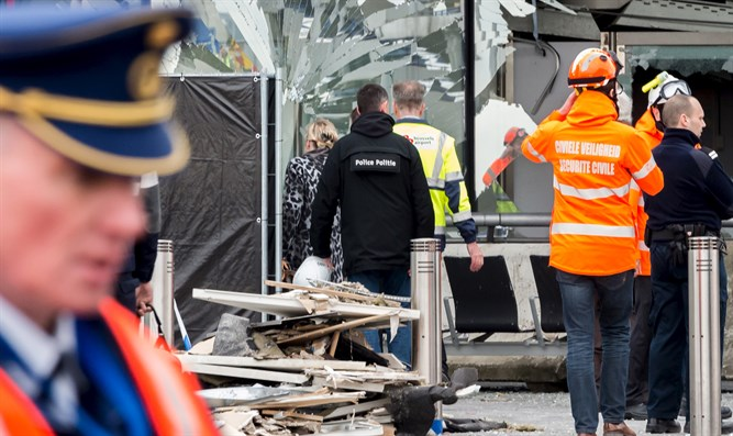Aftermath of Brussels attack in 2016