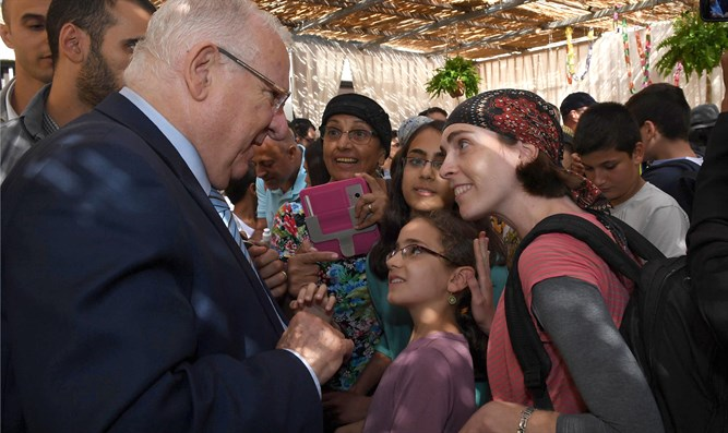 Preident Rivlin at his Sukka