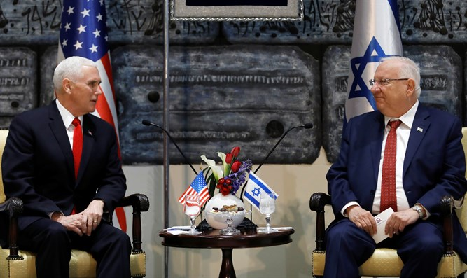Mike Pence meets with Reuven Rivlin in Jerusalem