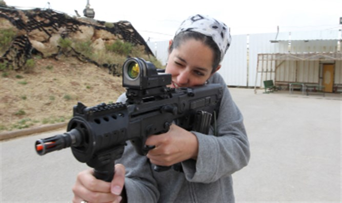 Woman trains on Tavor