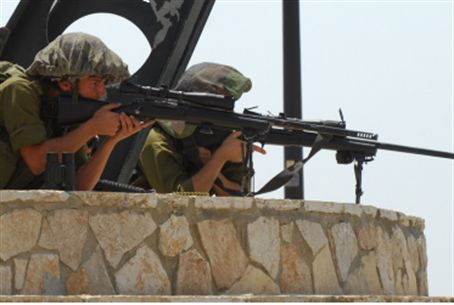 IDF soldiers on Lebanese border.