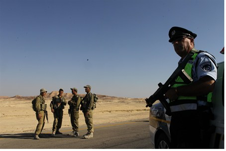 IDF officers following terror attack