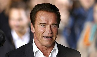 Watch: Schwarzenegger at Paris Hanukkiah lighting
