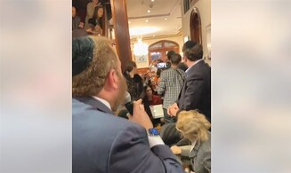 Watch: Protesters crash Yair Netanyahu interview in New York
