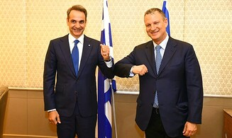 Greek PM Kyriakos Mitsotakis meets JVP Chairman Erel Margalit to explore cyber cooperation