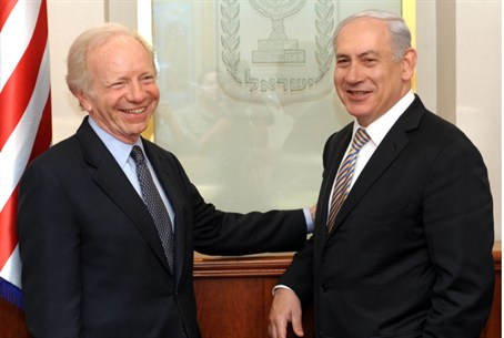 Netanyahu and Senator Lieberman