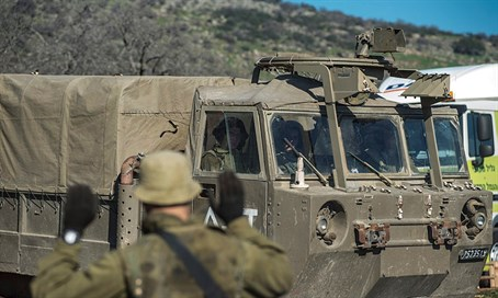 IDF forces seen reinforcing presence in the Golan Heights (file)