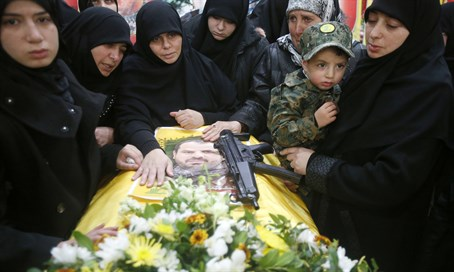 Funeral of Hezbollah terrorists killed in Syria (file)