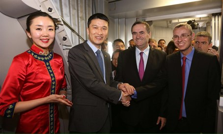 Ministers Katz and Levin greet Chinese delegation