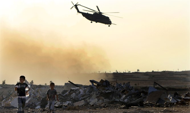 Military helicopter in Sinai (illustrative)