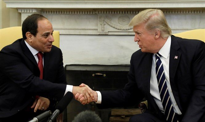 US President Trump and Egyptian President el-Sisi
