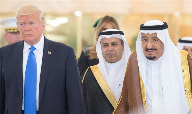 Donald Trump and Saudi King Salman