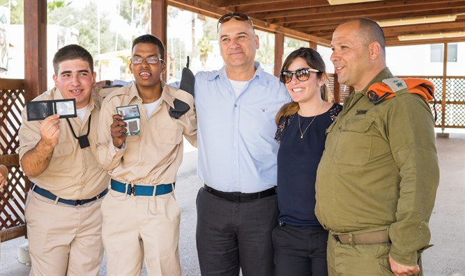 Ariel Almog (center) with participants in Special in Uniform program