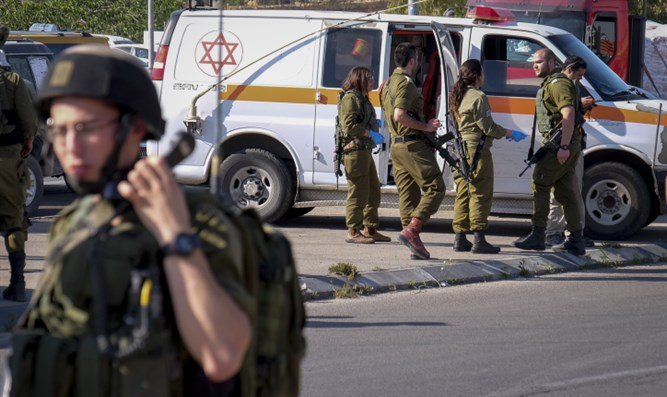 Scene of  ramming attack in Gush Etzion