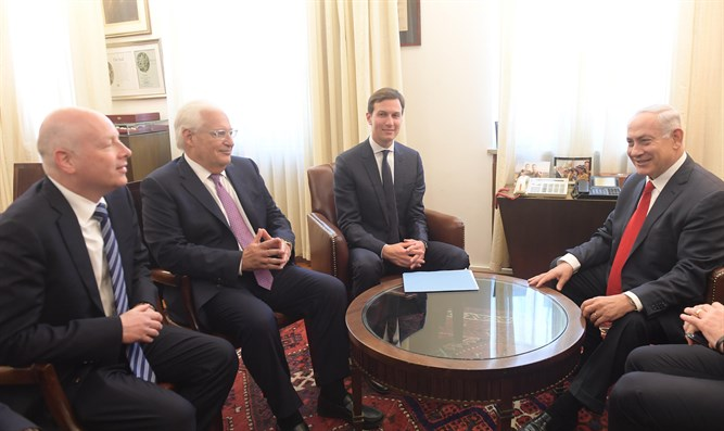 Netanyahu meets Kushner and Greenblatt