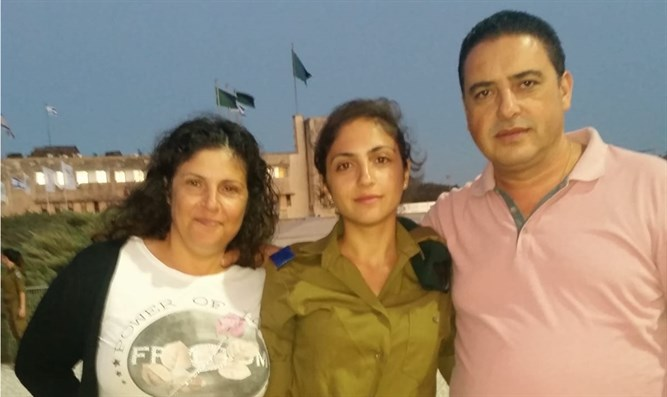 Shir Hajaj and parents
