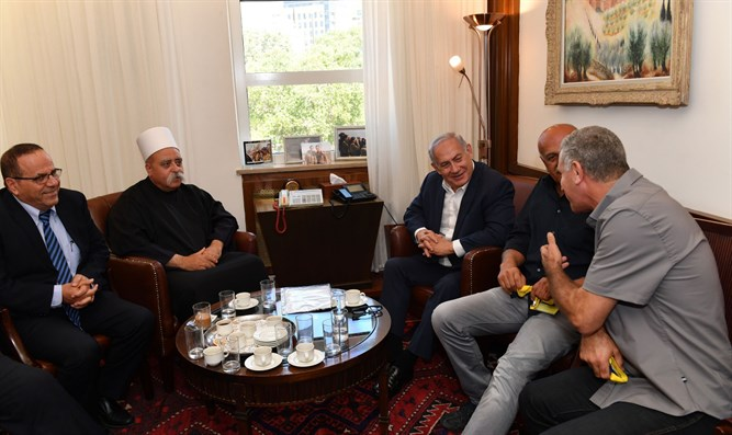 Netanyahu meets Druze leaders