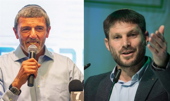 Betzalel Smotrich (right) and Rabbi Peretz (left)