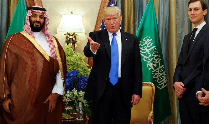 Donald Trump and Jared Kushner meet with Mohammad Bin Salman