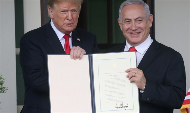 Trump, Netanyahu after US Golan recognition
