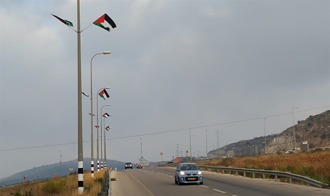PLO flags at Peduel junction