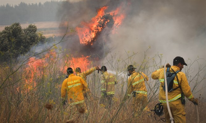 Forest fire near Moshv Aderet