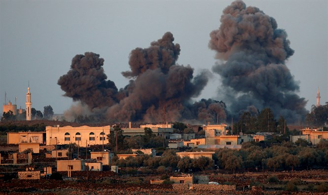 Israeli strikes in southern Syria, near Israeli border (archive)