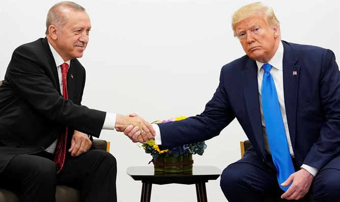 Donald Trump meets with Recep Erdogan at G20 summit in Osaka
