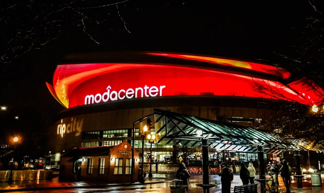 Moda Center, home of the Portland Trail Blazers