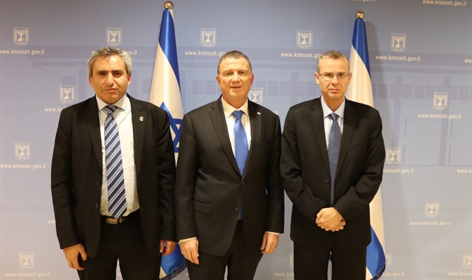 Knesset Speaker with Likud negotiators