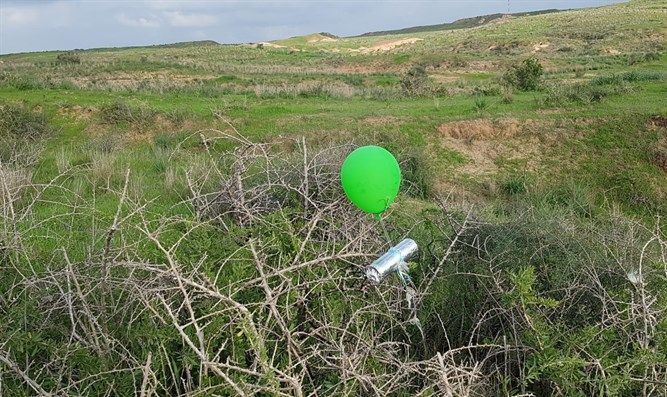 incendiary balloon found near Israeli community