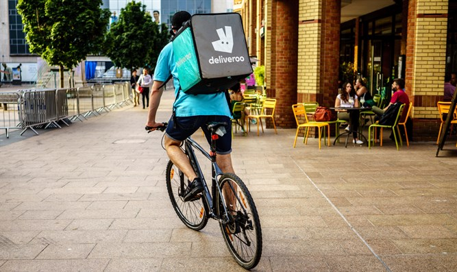 Deliveroo courier (stock)